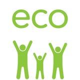 Famiglia di Eco Fotografia Stock Libera da Diritti