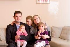 Famiglia di IHappy Fotografia Stock Libera da Diritti