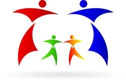 Famiglia di logo Fotografie Stock Libere da Diritti