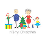 Famiglia di Natale Immagine Stock Libera da Diritti