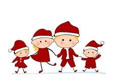 Famiglia di Natale Fotografia Stock Libera da Diritti