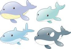 Famiglia di pesci dell'oceano Fotografia Stock