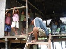 Famiglia di Poverish Immagini Stock Libere da Diritti