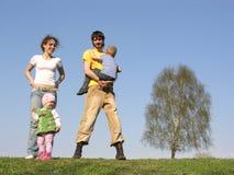 Famiglia di quattro Fotografia Stock