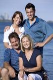 Famiglia di quattro Fotografie Stock