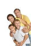 Famiglia di quattro felice Immagine Stock Libera da Diritti