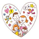 Famiglia di quattro felice royalty illustrazione gratis