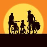 Famiglia di riciclaggio Fotografie Stock