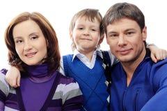 Famiglia di smiley Immagini Stock