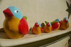 Famiglia di uccello Fotografia Stock