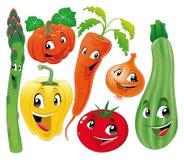 Famiglia di verdure. illustrazione di stock