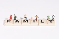 Famiglia di Wordgames- Fotografia Stock Libera da Diritti
