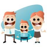Famiglia divertente del fumetto illustrazione vettoriale
