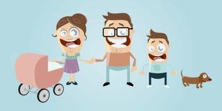 Famiglia divertente del fumetto royalty illustrazione gratis