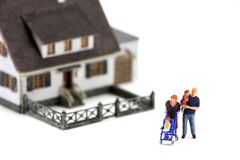 Famiglia e casa miniatura Fotografia Stock Libera da Diritti