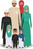 Famiglia e concetto del sociale Generazioni arabe della gente alle età differenti La gente araba genera, genera, il figlio e figl Immagini Stock