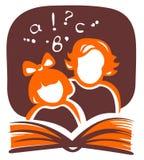Famiglia e libro illustrazione di stock