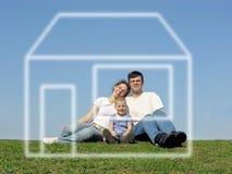 Famiglia e sogno fotografia stock