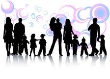 Famiglia ed estratto Fotografia Stock Libera da Diritti