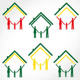 Famiglia ed illustrazione di colore domestica Fotografia Stock Libera da Diritti