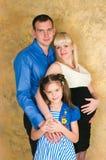 Famiglia elegante Fotografie Stock Libere da Diritti