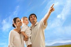 Famiglia esterna Fotografia Stock Libera da Diritti