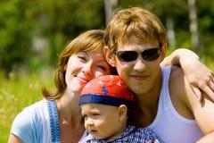 Famiglia felice Fotografia Stock Libera da Diritti