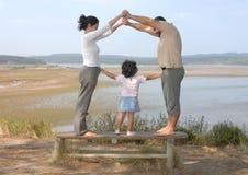 Famiglia felice immagine stock
