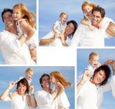 Famiglia felice che asembling Fotografia Stock Libera da Diritti