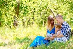 Famiglia felice che cammina insieme immagine stock libera da diritti