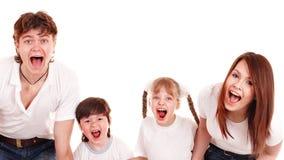 Famiglia felice con i bambini. Bambino di cura. Fotografia Stock