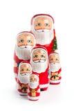 Famiglia felice del Babbo Natale Fotografia Stock Libera da Diritti