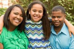 Famiglia felice dell'afroamericano Fotografia Stock Libera da Diritti