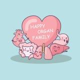 Famiglia felice dell'organo royalty illustrazione gratis