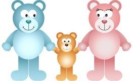 Famiglia felice dell'orsacchiotto illustrazione vettoriale