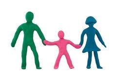 Famiglia felice della plastilina Fotografia Stock Libera da Diritti