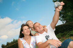 Famiglia felice di sorriso Immagine Stock Libera da Diritti