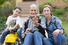 Famiglia felice ed hobby Immagini Stock Libere da Diritti