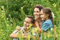 Famiglia felice esterna Fotografia Stock Libera da Diritti