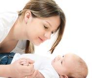 Famiglia felice - madre e bambino Fotografia Stock
