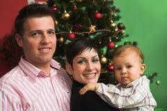 Famiglia felice a natale Fotografie Stock Libere da Diritti