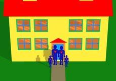 Famiglia felice nel paese illustrazione di stock