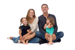 Famiglia felice Padre, madre e bambini Immagini Stock