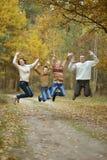 Famiglia felice piacevole Fotografia Stock Libera da Diritti