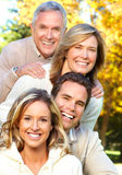 Famiglia felice in sosta Fotografia Stock