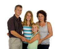Famiglia felice in studio Fotografie Stock Libere da Diritti