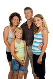 Famiglia felice in studio Fotografia Stock