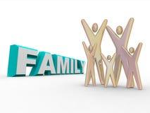 Famiglia - figure al lato della parola Immagine Stock Libera da Diritti