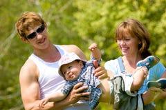 Famiglia giovane felice Immagine Stock