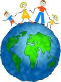 Famiglia globale Immagine Stock